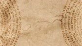 atlantický : Jewish Hebrew Word of Kabbalah on an Old Paper
