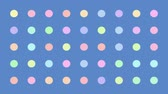 flats : Colorful Dots Blinking Randomly Retro Vector Background