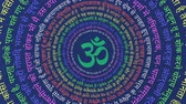krishna : Hindu Sanskrit in a Mandala with Om Symbol Stock Footage
