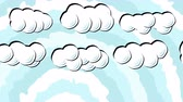 кичливый : Cartoon Sky with White Puffy Clouds