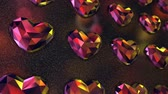 gem : Wall of Colorful Heart Shaped Diamonds