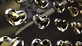rubi : Wall of Heart Shaped Shiny Diamonds Stock Footage