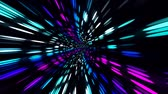portal : Moving Fast Through Futuristic City Lights Stock Footage