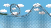 rollercoaster : Amusement Park Roller coaster with a Blue Sky