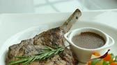 schab : Grilled Pork chop steak