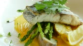 capers : Fish steak with lemon and caper sauce
