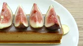 creme : Tart aux figues Stock Footage