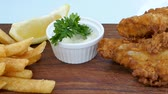 fish and chips : Fish and Chips with sauce