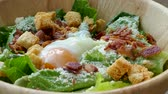 císař : Caesar salad with soft boiled egg