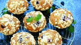 blueberry : Muffins with Blueberry Stock Footage
