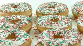 buzlu yüz : Sweets Dessert Donut with sugar sprinkles
