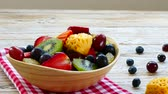 blueberry : Assorted and mixed fruits