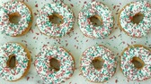 doughnut : Sweets Dessert Donut with sugar sprinkles