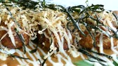 ahtapot : Takoyaki - japanese food style Stok Video