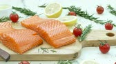 fatias : Close Up Salmon Fillet