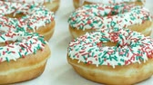 sticky : Sweets Dessert Donut with sugar sprinkles