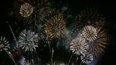 luglio : Display 4K fuochi d'artificio Filmati Stock