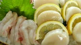 set : Raw fresh Sashimi - japanese food style Stok Video