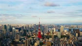 metropol : Time lapse view at Tokyo city with Tokyo Tower in japan Stok Video