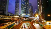 hong kong skyline : 4K Time lapse of Hong Kong central and city traffic Stock Footage