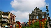 церкви : MACAU, CHINA - SEPTEMBER 6, 2018 :Ruins Of Saint Pauls Cathedral Landmark at Macau