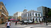 lista : MACAU, CHINA - SEPTEMBER 5, 2018: People walking around Senado Square in Macau