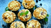 magdalenas : Muffins with Blueberry Archivo de Video
