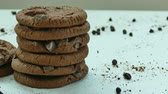 チョコレート : Close-up Chocolate cookies