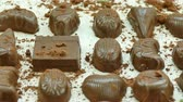 trufa : Closeup of dessert chocolates