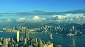 típico : 4K Time lapse Building and the skyline of Hong Kong city