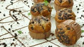 Muffins banana chocolate chip Stock mozgókép