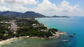 Aerial view of Koh Samui in Thailand