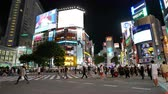 TOKYO - JAPAN, JULY 29, 2018 : People walking the Shibuya crossing