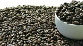 zaadje : Closeup coffee beans Stockvideo
