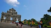 kultur : MACAU, CHINA - SEPTEMBER 6, 2018 :Ruins Of Saint Pauls Cathedral Landmark at Macau