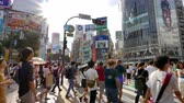paso de peatones : TOKYO - JAPAN, JULY 29, 2018 : People walking the Shibuya crossing