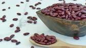 kidney beans : 4K Close up red kidney bean