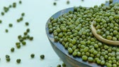 seca : 4K Close up mung bean Stock Footage