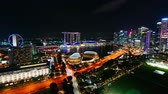 マリーナ : Beautiful Time lapse Singapore city skyline and view of Marina Bay Sands 動画素材