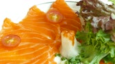 sashimi : Raw fresh Sashimi - japanese food style Stock Footage