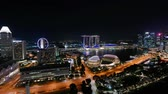 Сингапур : Beautiful Time lapse Singapore city skyline and view of Marina Bay Sands Стоковые видеозаписи