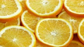 мандарин : Close up of sliced oranges