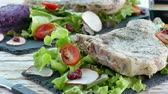 salada : Grilled Pork chop steak