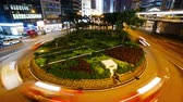 trafik : 4K Time lapse of Hong Kong central and city traffic Stok Video