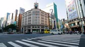 TOKYO - JAPAN, JULY 30, 2018 : People walking at Ginza shopping area in tokyo city japan Wideo