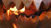 awful : Halloween. Glowing pumpkin mouth.