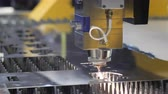 melting of metal : Cut sheet metal. Cutting out parts from metal. Stock Footage
