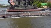 Питер : Fountains at the base of Peter the Great Statue. Realtime 4k video