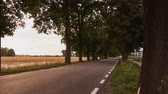 car : Country road before sunset. Timelapse 4K