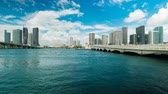 veneziano : Time lapse video of the downtown Miami skyline viewed from Biscayne Bay along the Venetian Causeway. Vídeos